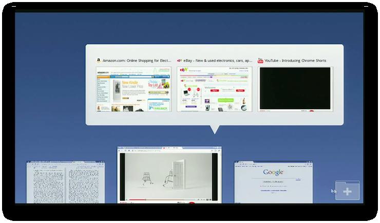 Changement de fenêtre dans Chrome OS